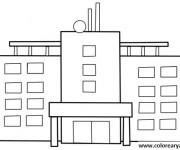 Coloriage et dessins gratuit Hôpital vecteur à imprimer