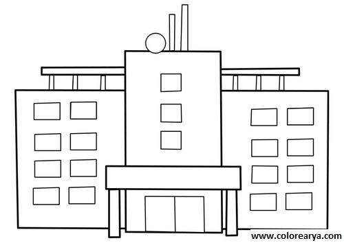 Coloriage et dessins gratuits Hôpital vecteur à imprimer