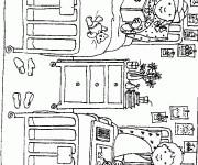 Coloriage et dessins gratuit L'hôpital d'enfants à imprimer
