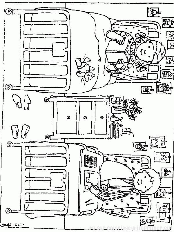 Coloriage et dessins gratuits L'hôpital d'enfants à imprimer