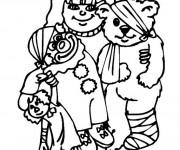 Coloriage et dessins gratuit L'ours blessé à imprimer