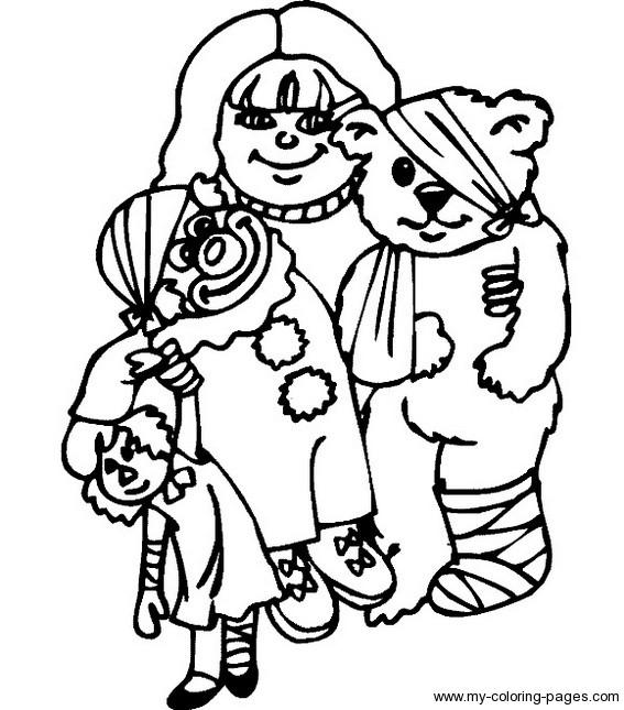 Coloriage et dessins gratuits L'ours blessé à imprimer