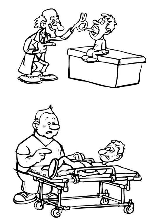 Coloriage et dessins gratuits Le Docteur rigolo à imprimer