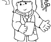 Coloriage Le Petit Docteur pour enfant
