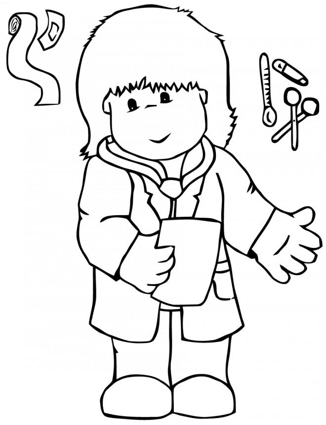 Coloriage et dessins gratuits Le Petit Docteur pour enfant à imprimer