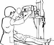Coloriage Scanner Matériel de L'Hôpital