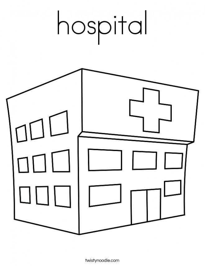 Coloriage et dessins gratuits Thème Hôpital à imprimer