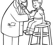 Coloriage et dessins gratuit Visite médical à L'Hôpital à imprimer