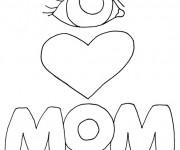 Coloriage Amour maternelle facile