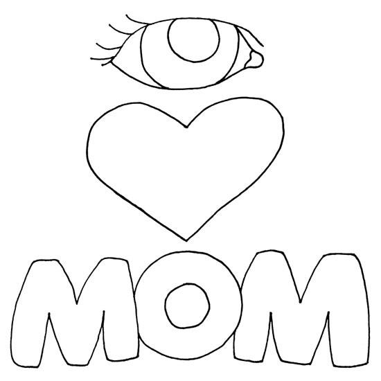 Coloriage et dessins gratuits Amour maternelle facile à imprimer