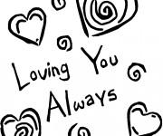 Coloriage Amour pour toujours