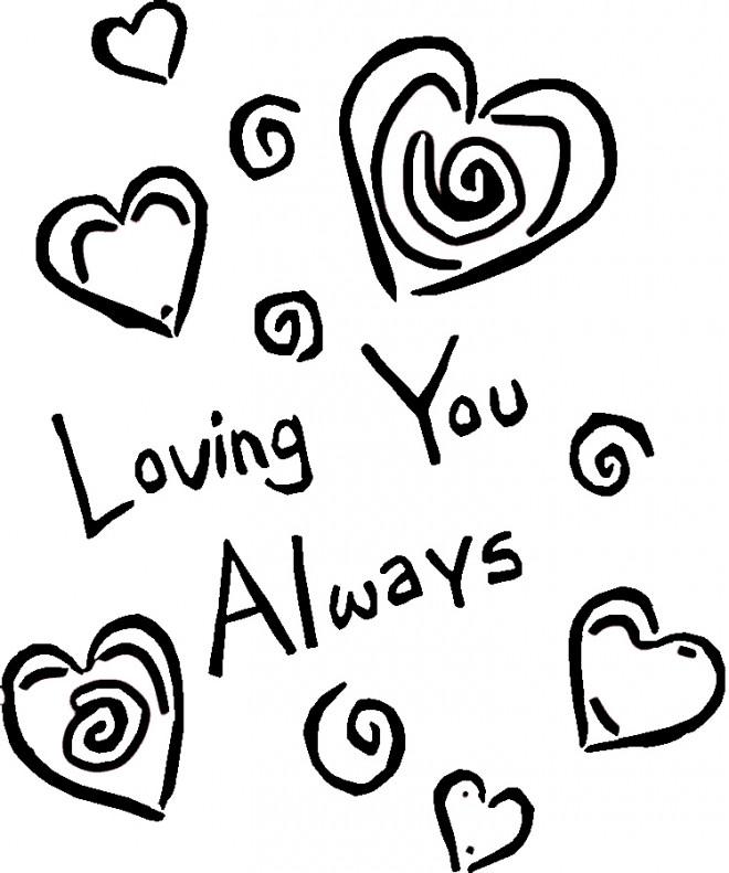 Coloriage et dessins gratuits Amour pour toujours à imprimer