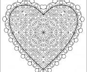 Coloriage et dessins gratuit Coeur D'amour à imprimer