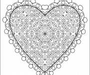 Coloriage Coeur d'amour complexe