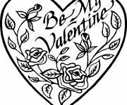 Coloriage Coeur et déclaration d'amour
