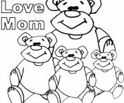 Coloriage et dessins gratuit Dessin I Love You Mom à imprimer