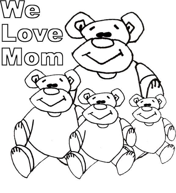 Coloriage et dessins gratuits Dessin I Love You Mom à imprimer