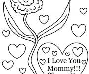 Coloriage dessin  I Love You 19