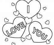 Coloriage dessin  I Love You 4