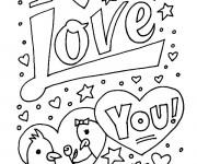 Coloriage I Love You à imprimer