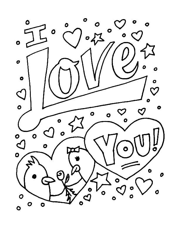 Coloriage et dessins gratuits I Love You à imprimer à imprimer