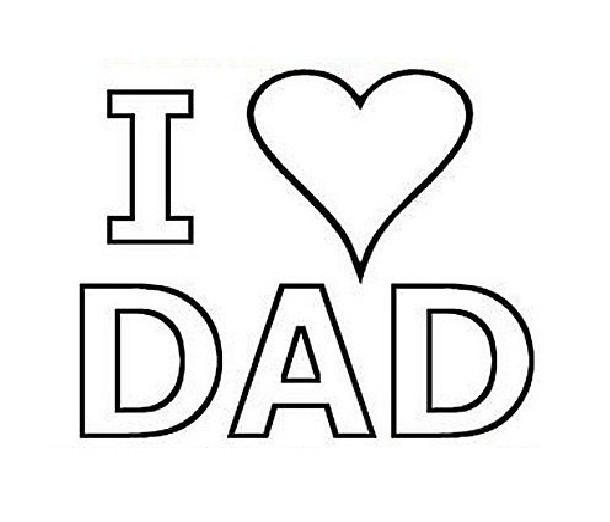 Coloriage et dessins gratuits I Love You à offrir pour mon père à imprimer