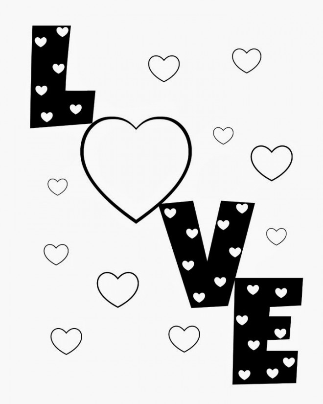 Coloriage et dessins gratuits I Love You à télécharger à imprimer