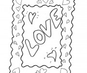 Coloriage I Love You au crayon