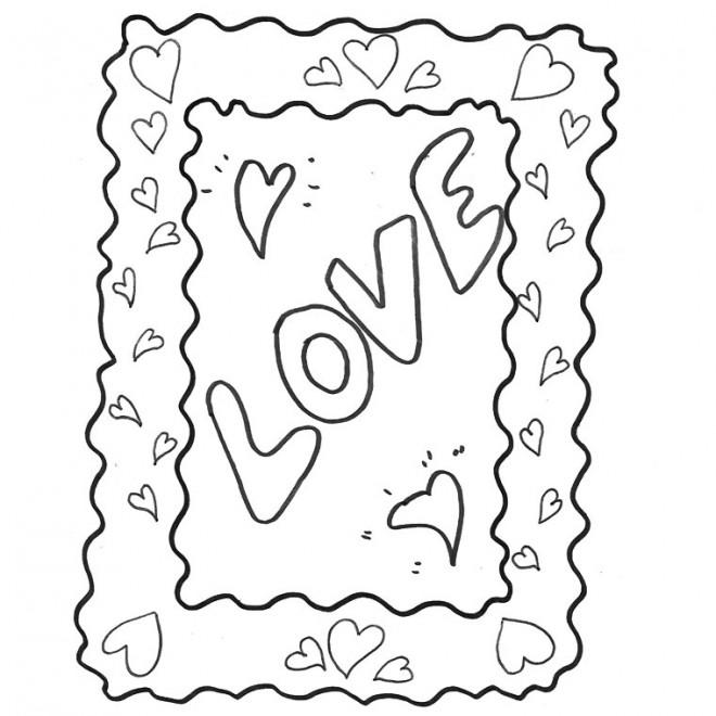 Coloriage et dessins gratuits I Love You au crayon à imprimer
