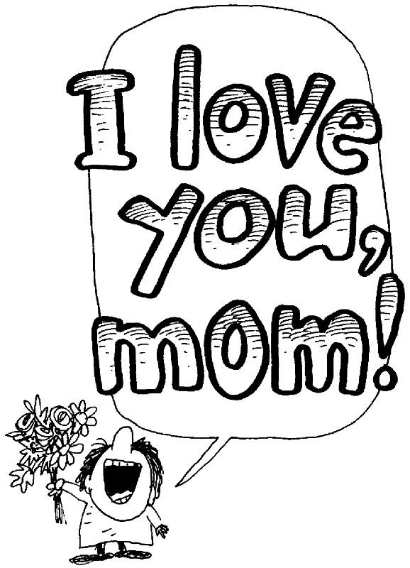 Coloriage et dessins gratuits I Love You avec des feutres à imprimer