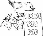 Coloriage et dessins gratuit I Love You Dad à imprimer