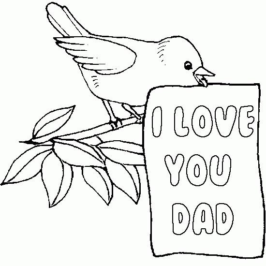 Coloriage et dessins gratuits I Love You Dad à imprimer