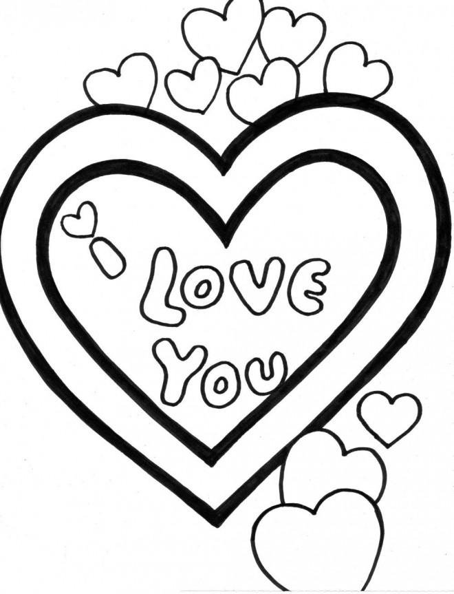 Coloriage et dessins gratuits I Love You en couleur pour Les Amoureux à imprimer