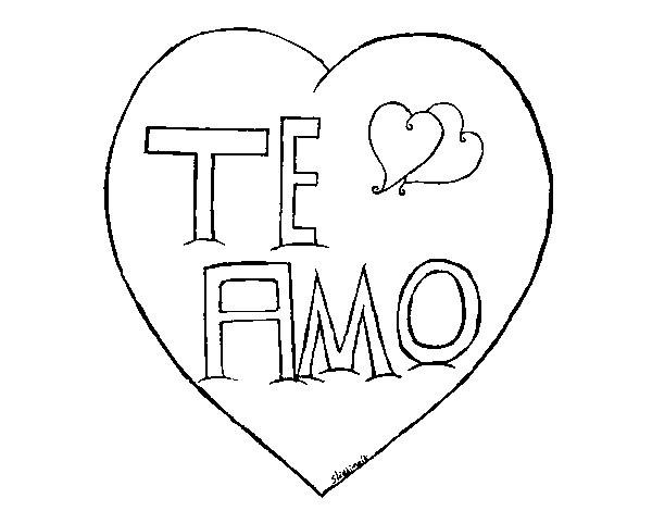 Coloriage et dessins gratuits I Love You en Italien à imprimer
