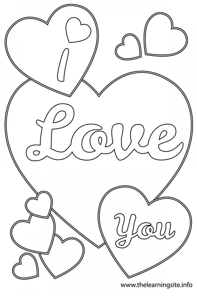 Coloriage I Love You En Ligne Dessin Gratuit à Imprimer