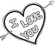 Coloriage et dessins gratuit I Love You Expression d'amour à imprimer