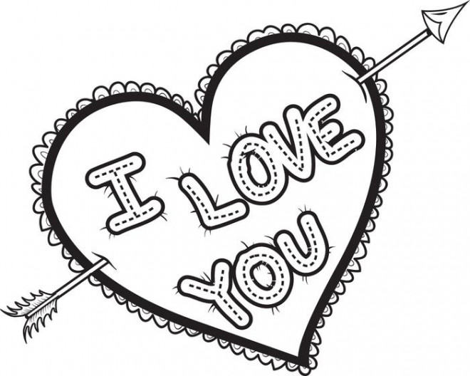 Coloriage et dessins gratuits I Love You Expression d'amour à imprimer