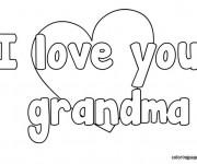 Coloriage I Love You Grandma