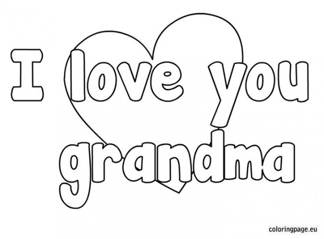 Coloriage et dessins gratuits I Love You Grandma à imprimer