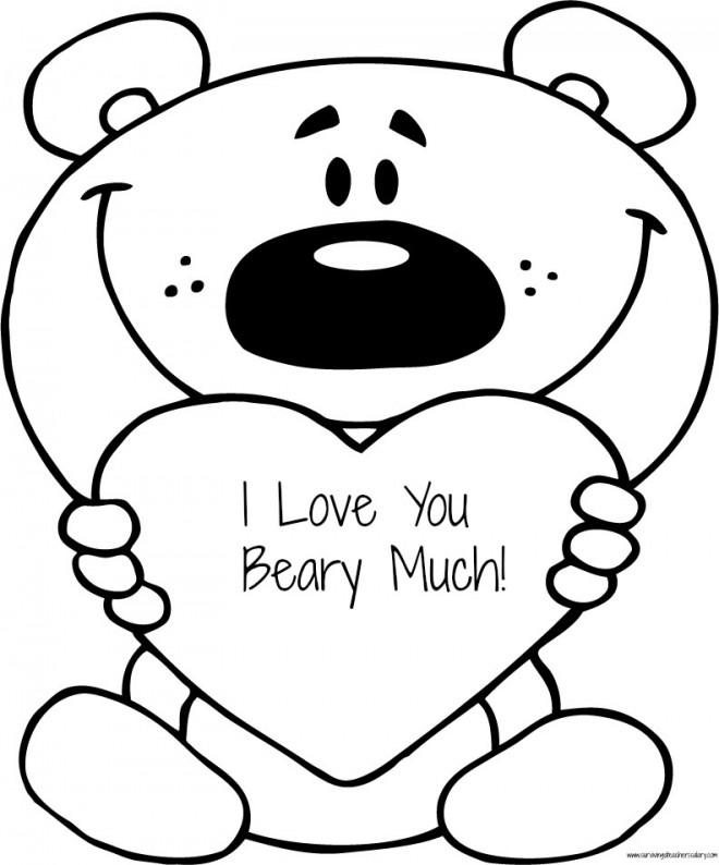 Coloriage et dessins gratuits I Love You humoristique à imprimer
