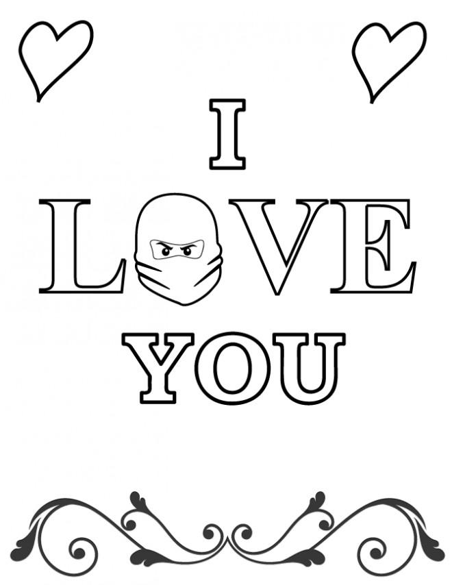 Coloriage et dessins gratuits I Love You magique à imprimer