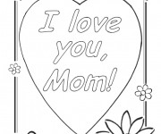 Coloriage I Love You Maman
