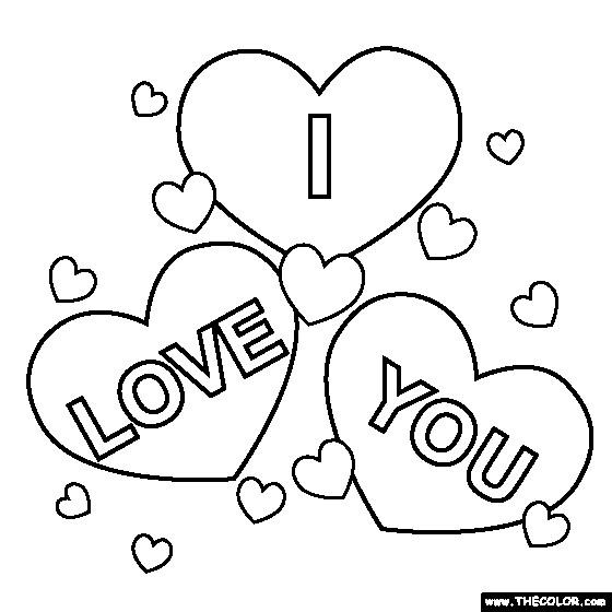 Coloriage et dessins gratuits I Love You maternelle à imprimer