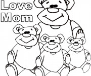 Coloriage et dessins gratuit I Love You Mom à imprimer