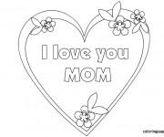 Coloriage I Love You Mom à colorier