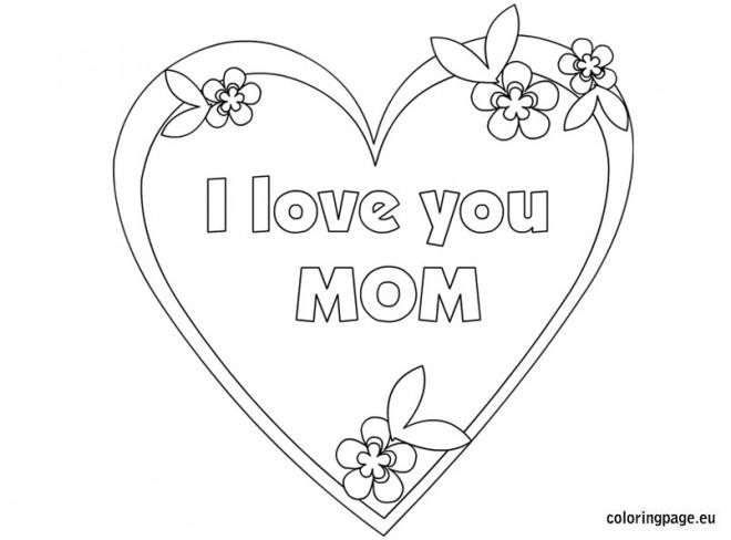 Coloriage et dessins gratuits I Love You Mom à colorier à imprimer