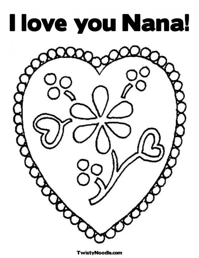 Coloriage et dessins gratuits I Love You Nana à imprimer