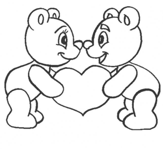 Coloriage et dessins gratuits I Love You pour enfant à imprimer