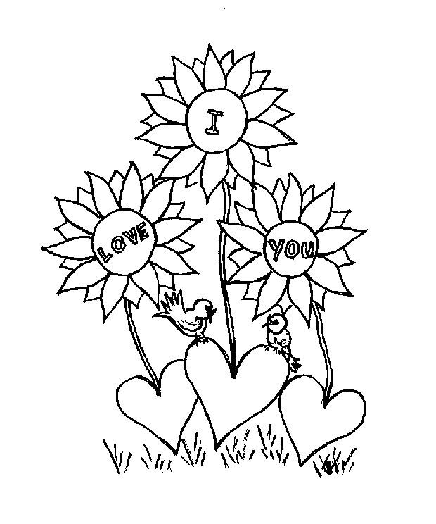 Coloriage et dessins gratuits I Love You pour exprimer nos Sentiments à imprimer