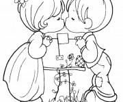 Coloriage et dessins gratuit I Love You pour Les Petits à imprimer